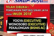 Pemesanan tiket untuk Imlek 2018